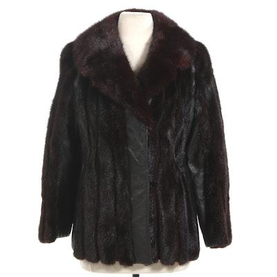Mahogany Mink Fur and Leather Jacket, Vintage