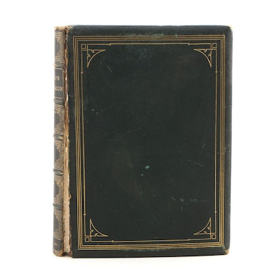 "1868 Leather Bound ""Sketch Book of Geoffrey Crayon, Gent"" by Washington Irving"