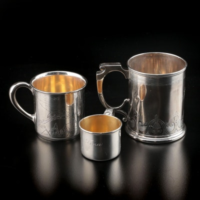 Gorham, Webster and Lunt Sterling Silver Children's Keepsake Cups