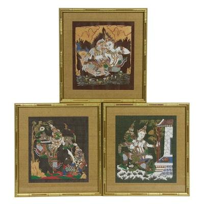 Thai Folklore Paintings on Silk