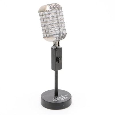 Tim McCarver Signed Replica Microphone  COA