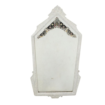 Vintage Reverse Painted Accent Mirror