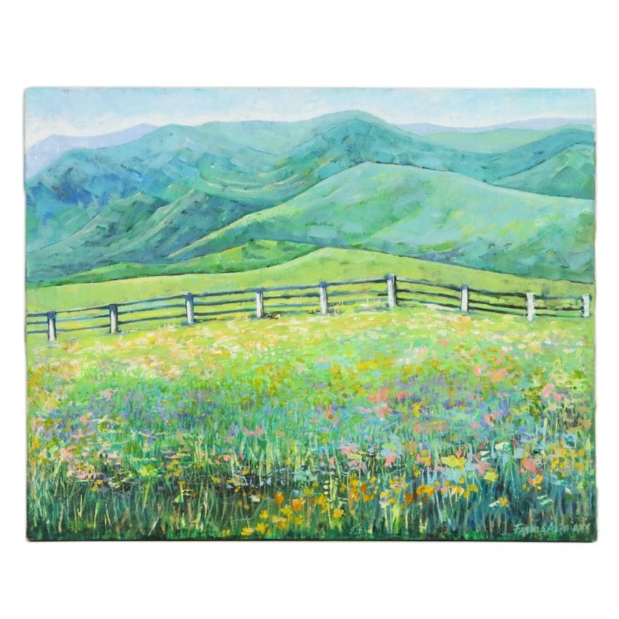 "Fatima Taylor Acrylic Painting ""West Virginia"""