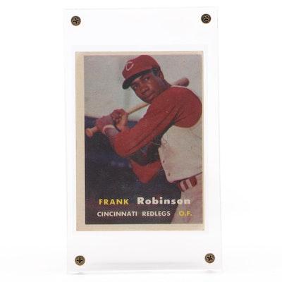 1957 Frank Robinson Cincinnati Reds Topps Rookie Baseball Card