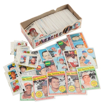 1969 Topps Baseball Cards, Game, and Decals Housed in Counter Box