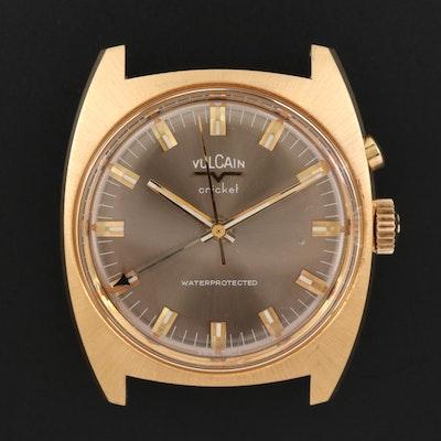 Vintage Vulcain Cricket Stem Wind Gold Tone Watch