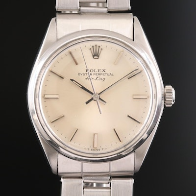Rolex Air-King Stainless Steel Wristwatch, 1980
