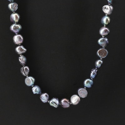 Cultured Baroque Pearl Endless Strand Necklace
