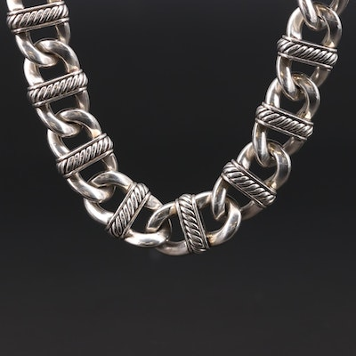 "David Yurman ""Madison"" Sterling Silver Chain Necklace"