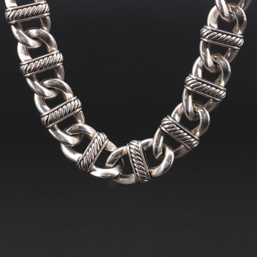 "David Yurman ""Madison"" Sterling Silver Chain Necklace"
