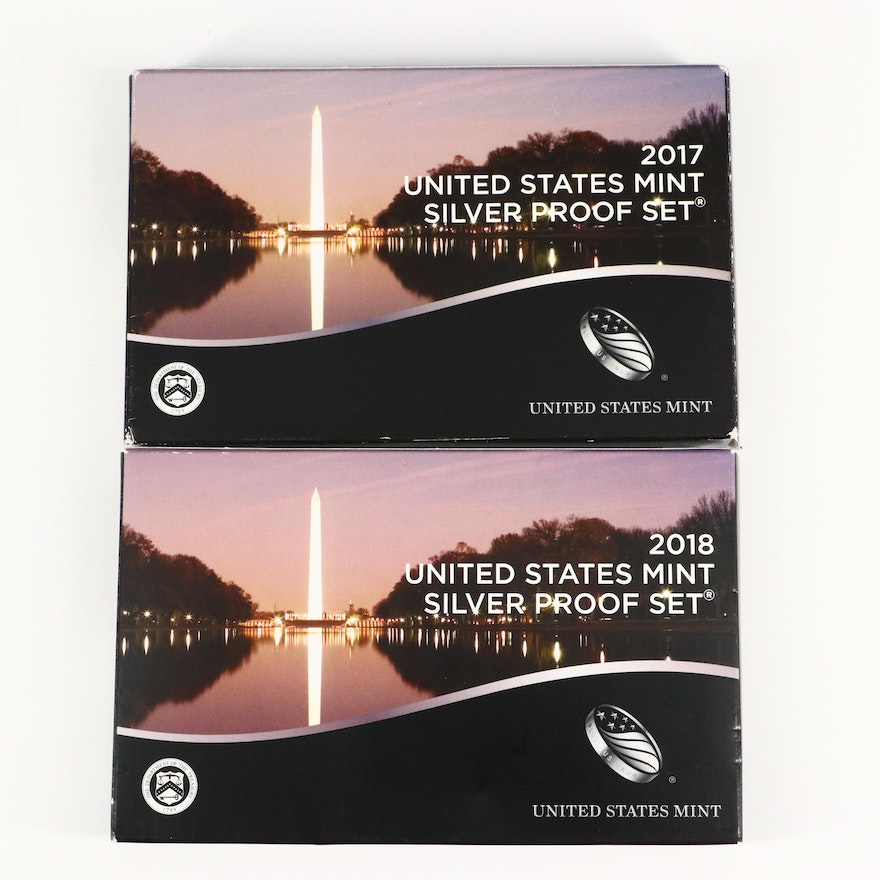 2017 and 2018 U.S. Mint Silver Proof Sets