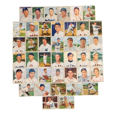 1950 Bowman Baseball Cards Including Fred Hutchinson