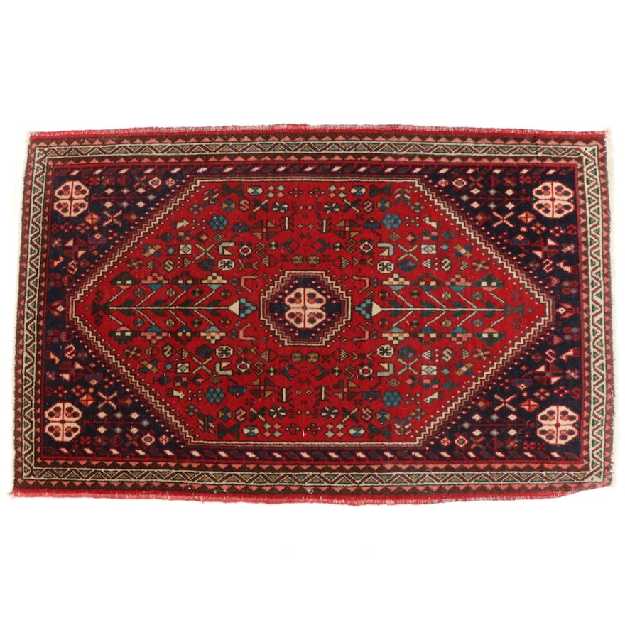 1'11 x 3'3 Hand-Knotted Persian Accent Rug