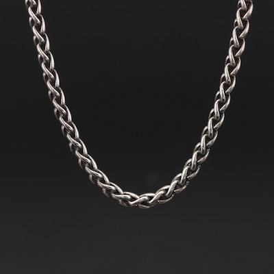 David Yurman Sterling Silver Wheat Chain