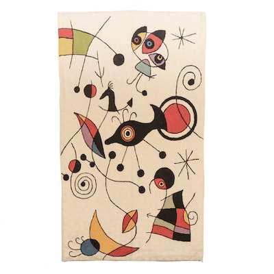 Kaleen Hand Hooked Wall Tapestry After Joan Miró