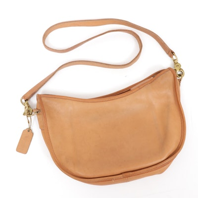 Coach Leather Crossbody Bag in Camel, Vintage