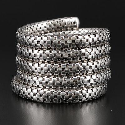 "John Hardy ""Dot"" Sterling Silver Five Coil Expandable Bracelet"