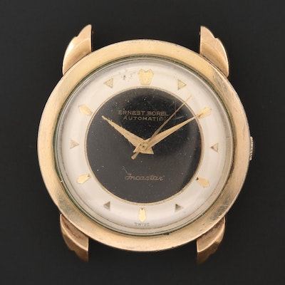 1950's Ernest Borel Lancaster Gold Filled and Stainless Steel Wristwatch