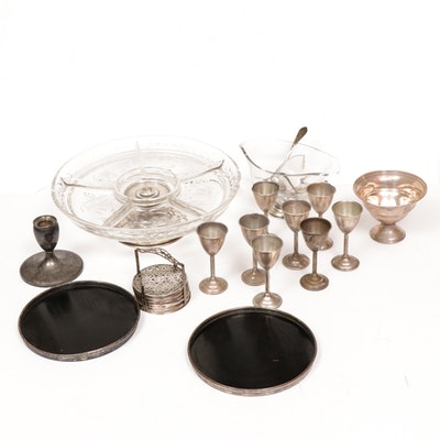 Weighted Sterling Silver Tableware Including Candlesticks, Serveware and More