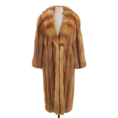 Red Fox Fur Coat, Vintage