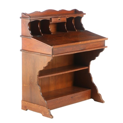 Provincial Style Pine Lift-Lid Desk, Mid to Late 20th Century