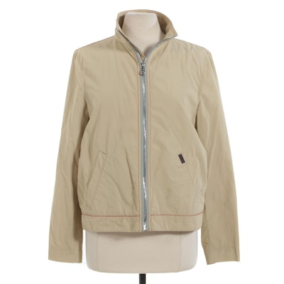 Women's Façonnable Windbreaker Jacket with Contrast Stitching Detail