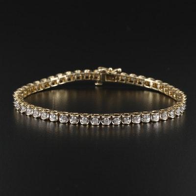 14K Yellow Gold 1.44 CTW Diamond Line Bracelet