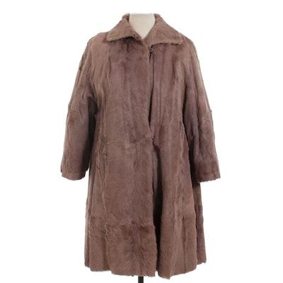 Grey Goat Fur Swing Coat, Mid-20th Century