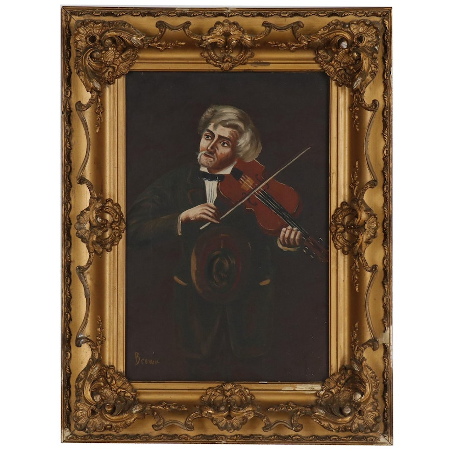 Oil Painting of Violinist