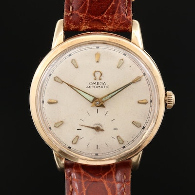 Omega F6516 14K Gold Automatic Wristwatch, Vintage