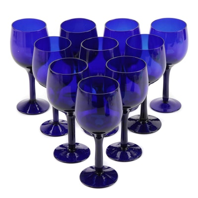 Cobalt Blue Dessert Wine Glasses