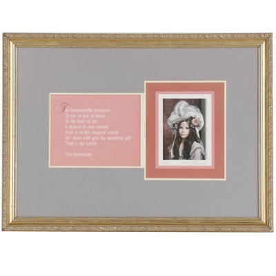 "Pati Bannister Offset Lithograph ""The Duchess"" with Poem"