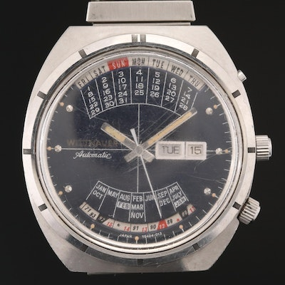 "Wittnauer ""2000"" Time Machine Stainless Steel Wristwatch"