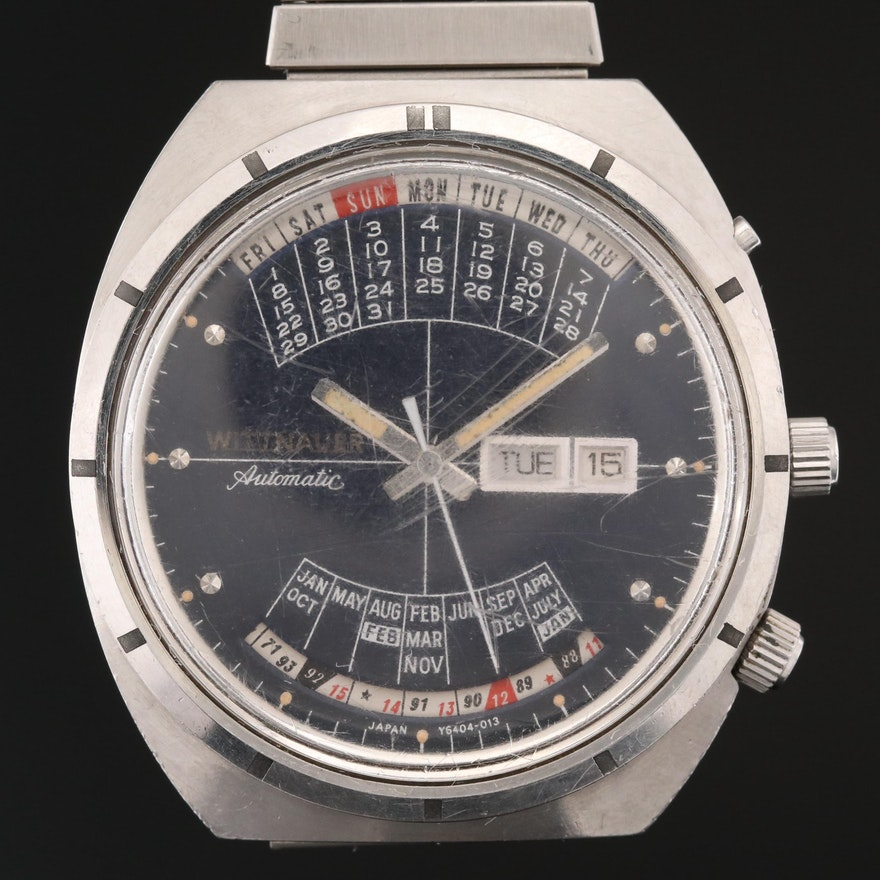 "Wittnauer ""2000"" Time Machine Stainless Steel Wristwatch"