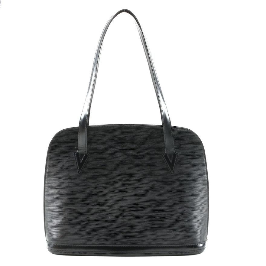 Louis Vuitton Lussac Tote in Noir Epi Leather