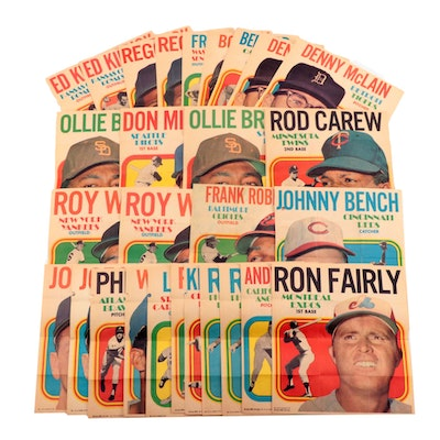 1970 Topps Baseball Posters Including Clemente, Bench, Robinson, and More