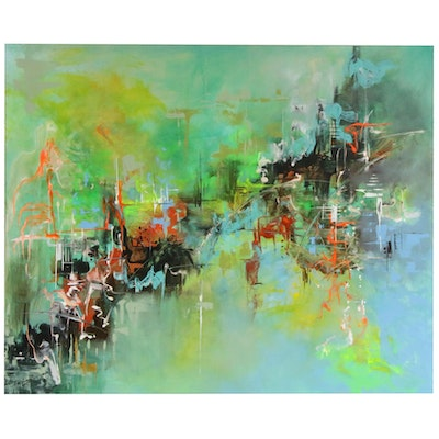 Farshad Lanjani Abstract Acrylic Painting