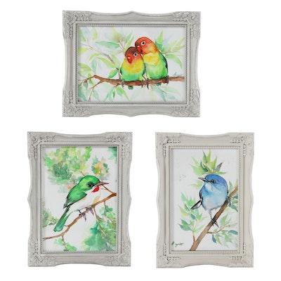 Anne Gorywine Watercolor Paintings of Birds