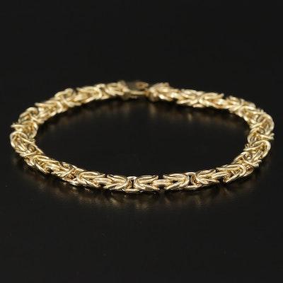 Byzantine 14K Gold Chain Bracelet