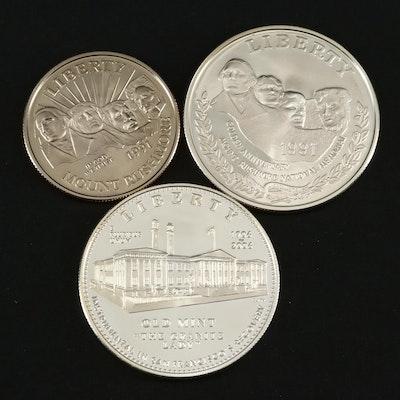Two U.S. Commemorative Coin Sets
