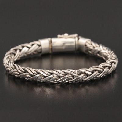Sterling Silver Double Wheat Chain Bracelet