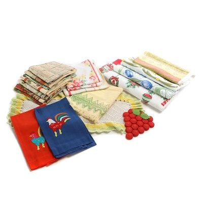 Trivet, Tablecloths, Dish Towels Calendars with Other Household Linens