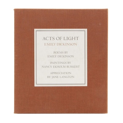 "Signed Limited First Edition "" Acts of Light, Emily Dickinson"",  1980"