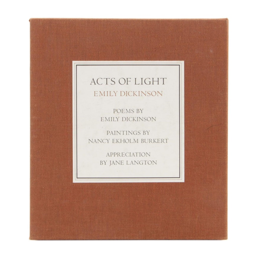 """Signed Limited First Edition """" Acts of Light, Emily Dickinson"""",  1980"""