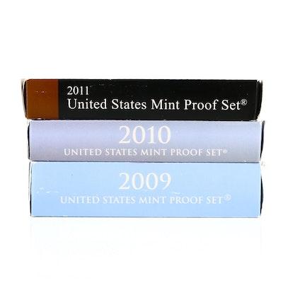 Three U.S. Mint Proof Sets