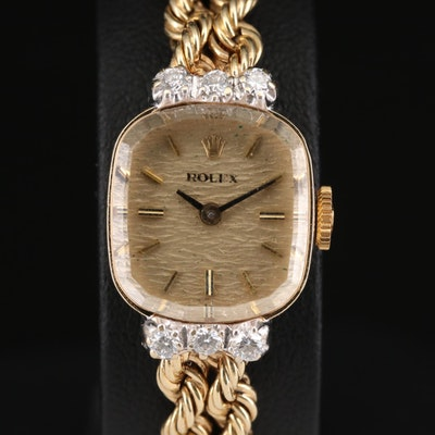 Rolex Cocktail Automatic 14K Yellow Gold Diamond Wristwatch