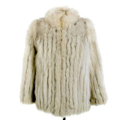 Saga Fox Blue Fox Fur Jacket, Late 20th Century