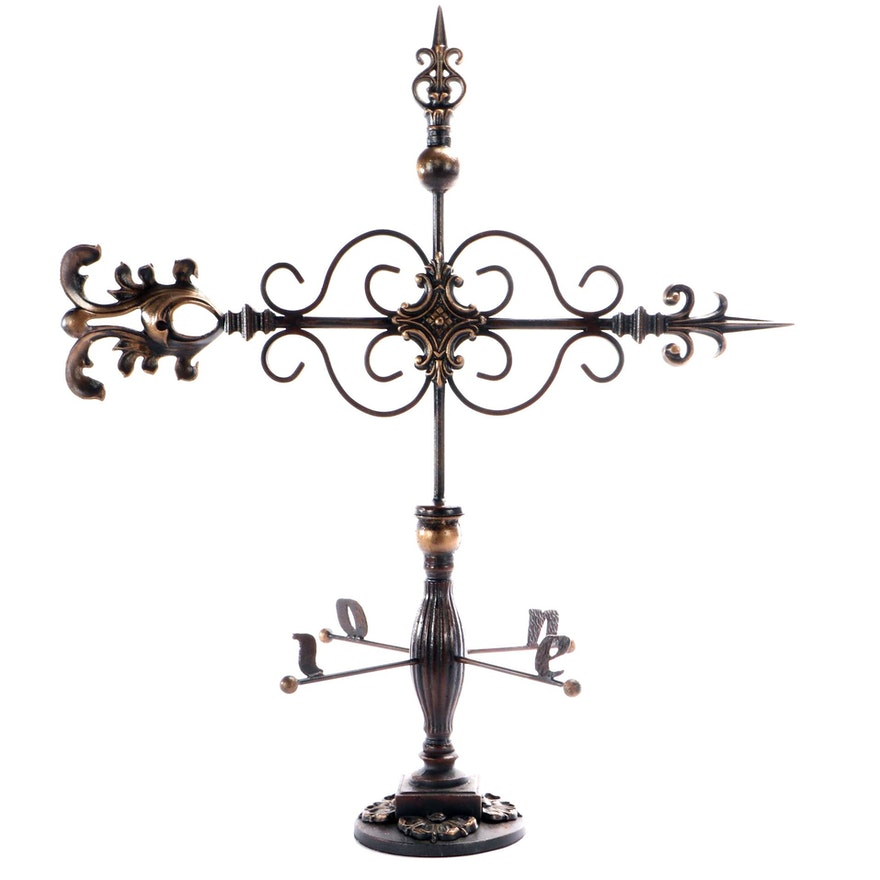 Spanish Style Iron Table Top Weathervane