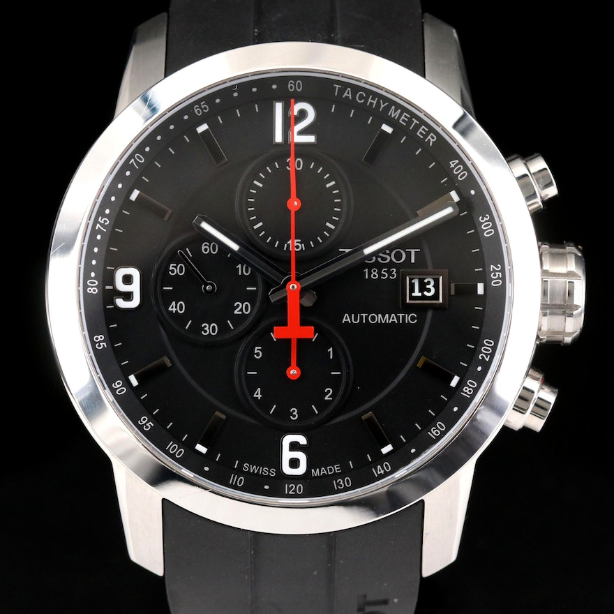Tissot PRC200 Stainless Steel Automatic Chronograph Wristwatch