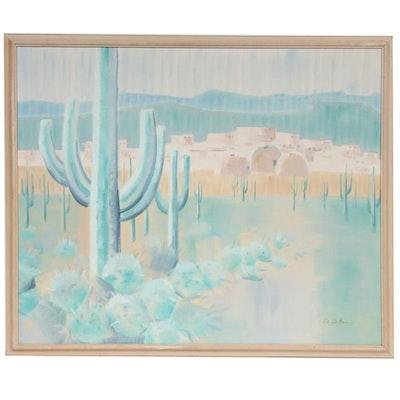 Don DuBois Southwestern Landscape Acrylic Painting